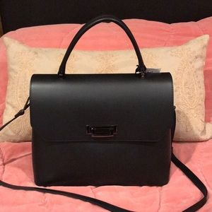 Luana Ferracuti Black Leather Satchel